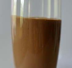 banana cocoa coco smoothie - side view