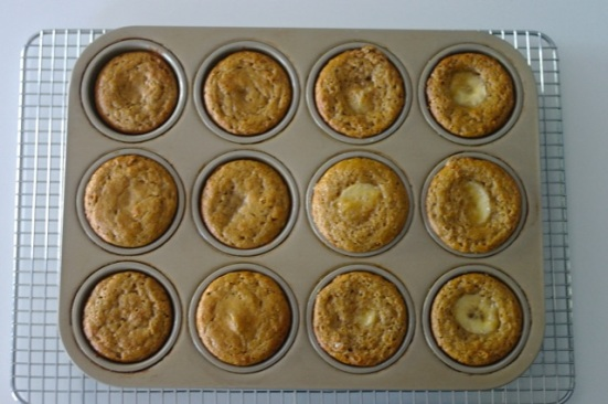 baked muffins in pan - overview