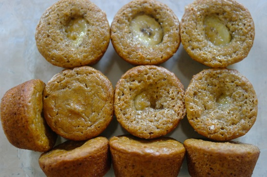 bunch of baked banana muffins