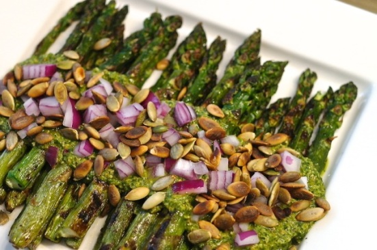 grilled asparagus plate