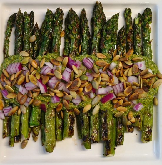 grilled asparagus plate-large