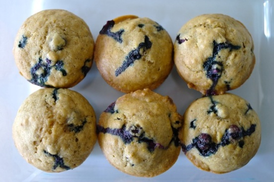 lemon blueberry muffin overview