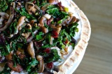 Kale, Mushroom & Cranberry Tart, plus some BIG Trees