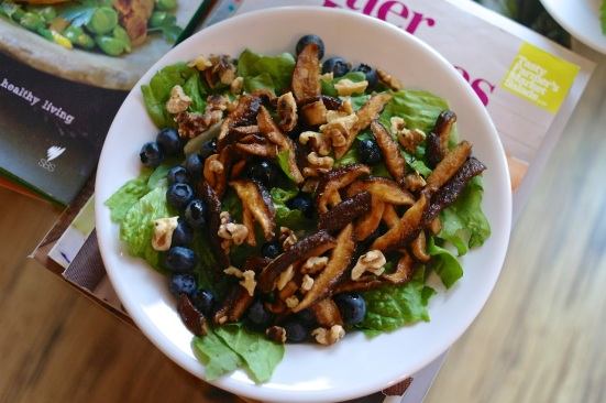 Blueberry, Shiitake + Walnut Salad