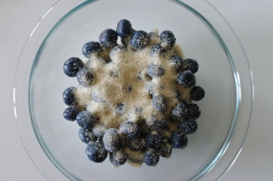 blueberries w/ sugar